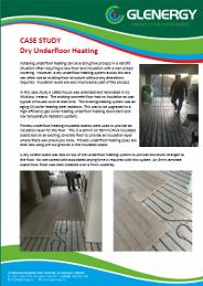 dry underfloor heating case study