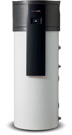 image of a hot water heat pump